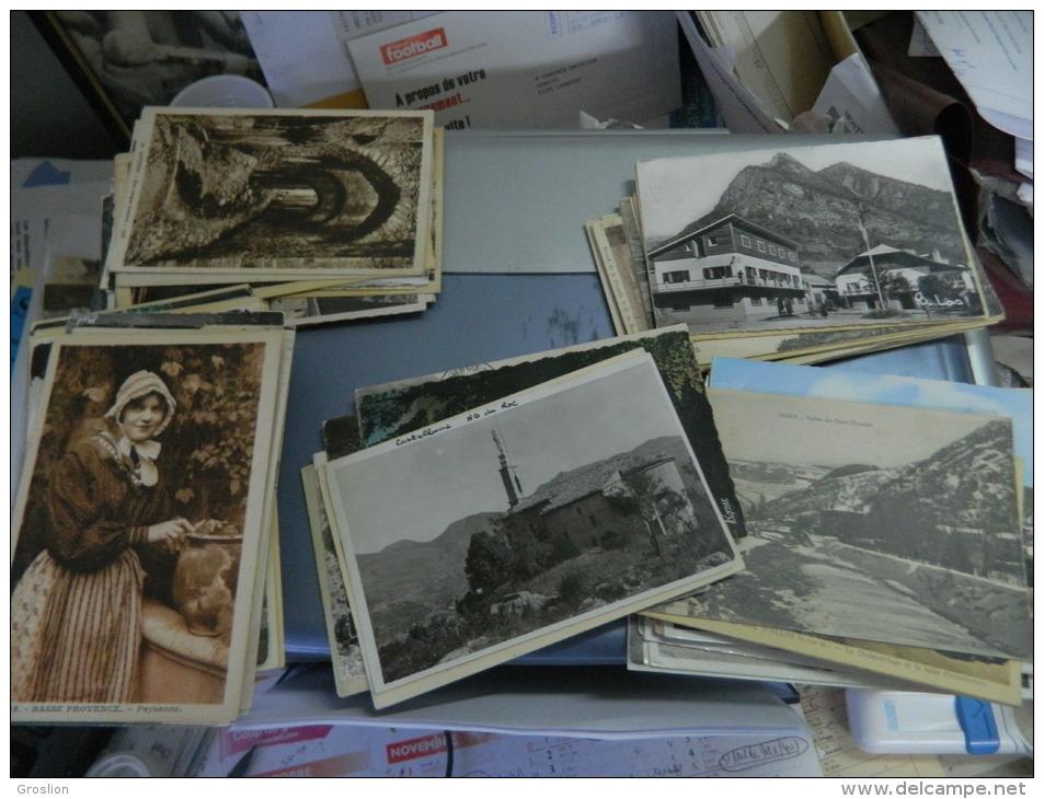 LOT DE 150 CARTES POSTALES ANCIENNES ET PETITES SEMI MODERNES DEPARTEMENT DES ALPES DE HAUTE PROVENCE (04) - 100 - 499 Cartes