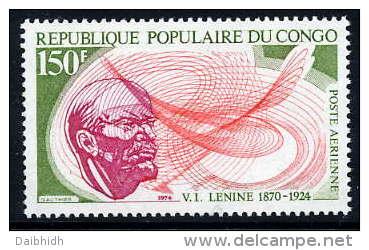 CONGO 1974 Lenin Death Anniversary  MNH  / **  Sc. C191 - Congo - Brazzaville