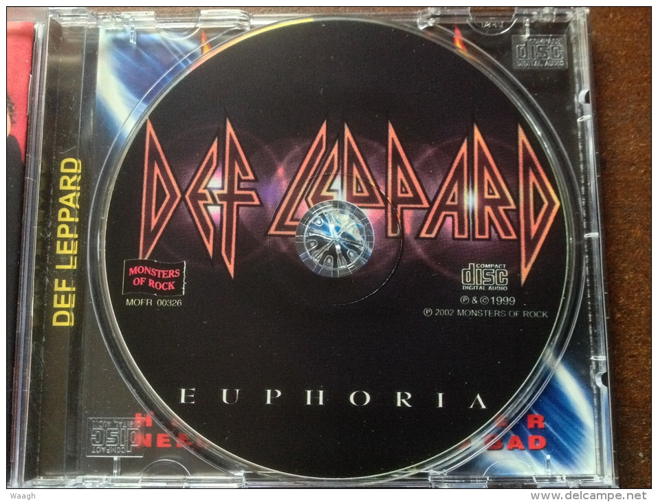 "DEF LEPPARD ""euphoria + Bonus Ep"" CD RUSSIAN  Press!!! - Hard Rock & Metal"