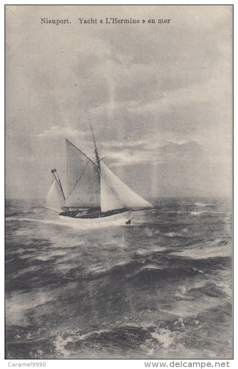Nieuwpoort     Yacht  L'Hermine   En Mer       Scan 5677 - Nieuwpoort