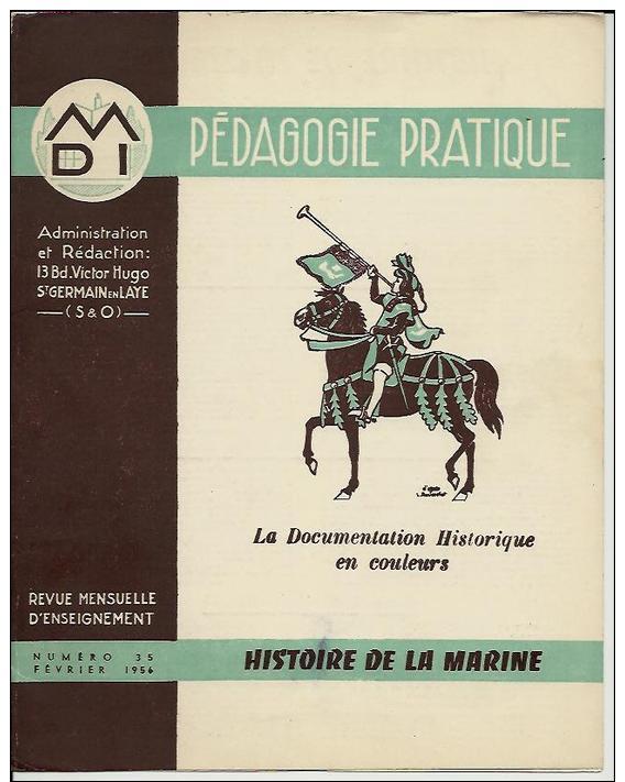 """8 Sup. Gravures-1956-DOSSIER""""HISTOIRE DE LA MARINE""""-caravelle,NORMANDIE,LA FAYETTE,vapeur,GALION,etc. .Péda.Pratiq. N°35 - Incisioni"""