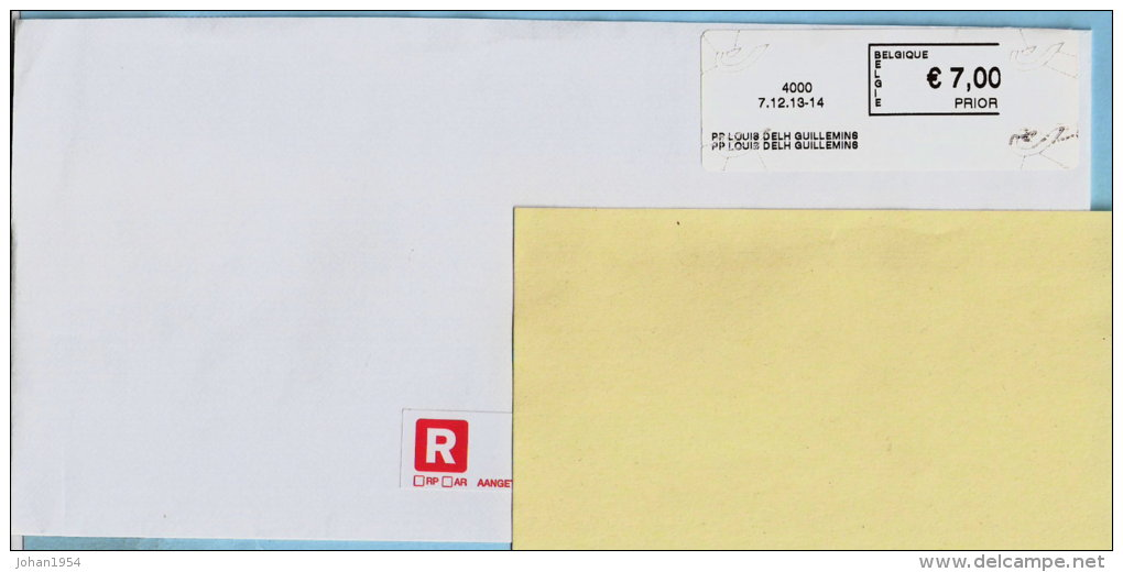 Blaster Liege - 4000 PP LOUIS DELH GUILLEMINS (onvolledige Kader) Op Aanget. Zending - Frankeervignetten