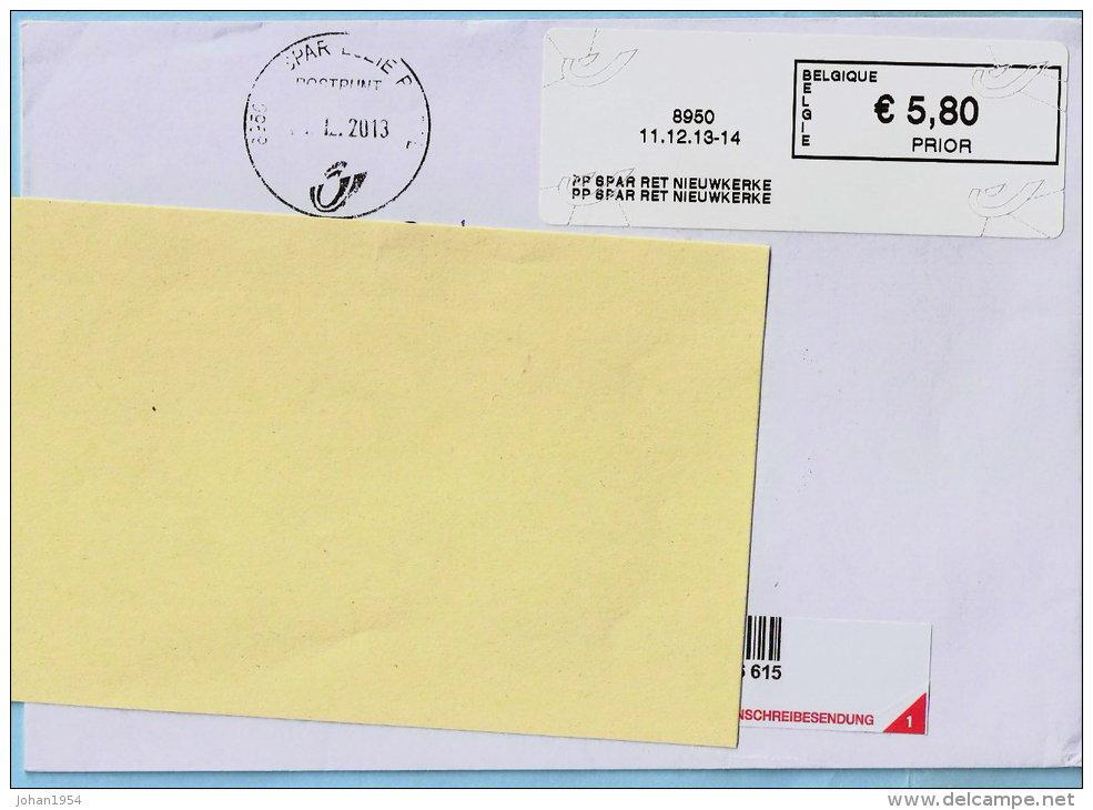 Blaster - 8950 PP SPAR RET NIEUWKERKE Op Aanget. Zending - Vignette