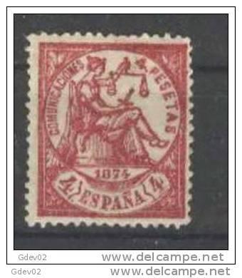 ES151-L2696TVÑ.ALEGORIAS   DE LA  JUSTICIA.1874.(Ed 151F**)sin  Charnela .LUJO.CERTIFICADO. - Viñetas De Fantasía