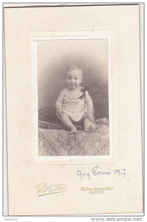 Ancienne Grande Photo D' Art / Bébé - Guy Poirier 1907 / P. Valle, Rouen - Personnes Identifiées