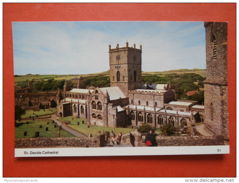 30162 PC: WALES: PEMBROKESHIRE: St. Davids Cathedral. - Pembrokeshire