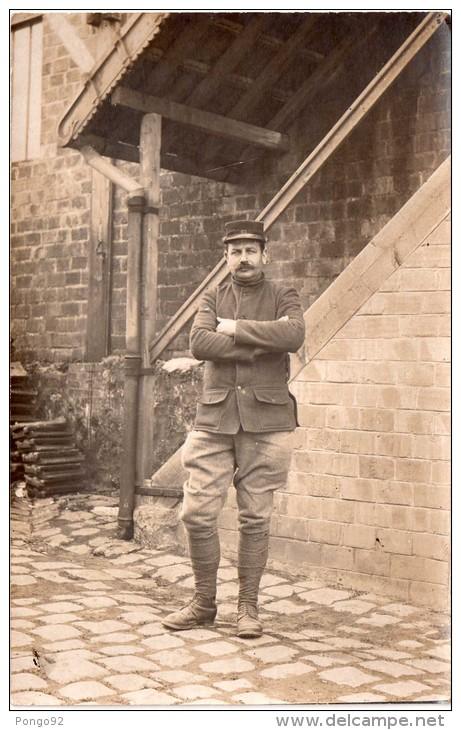 Photo 1915, Cpa  De Militaire En Tenue, ,  (30.16) - Guerre, Militaire