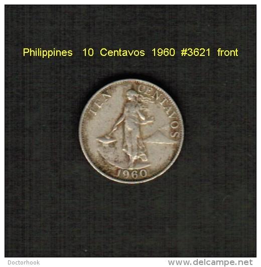 PHILIPPINES    10  CENTAVOS  1960  (KM # 188) - Philippines