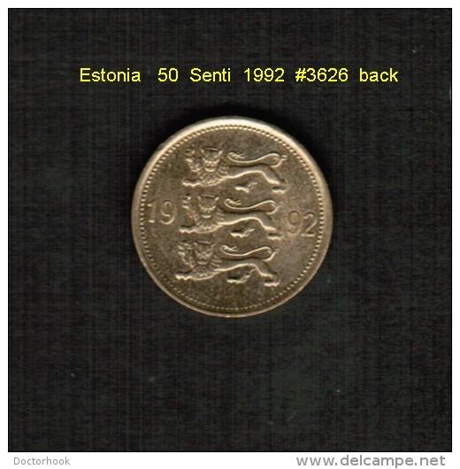 ESTONIA    50  SENTI  1992  (KM # 24) - Estonia
