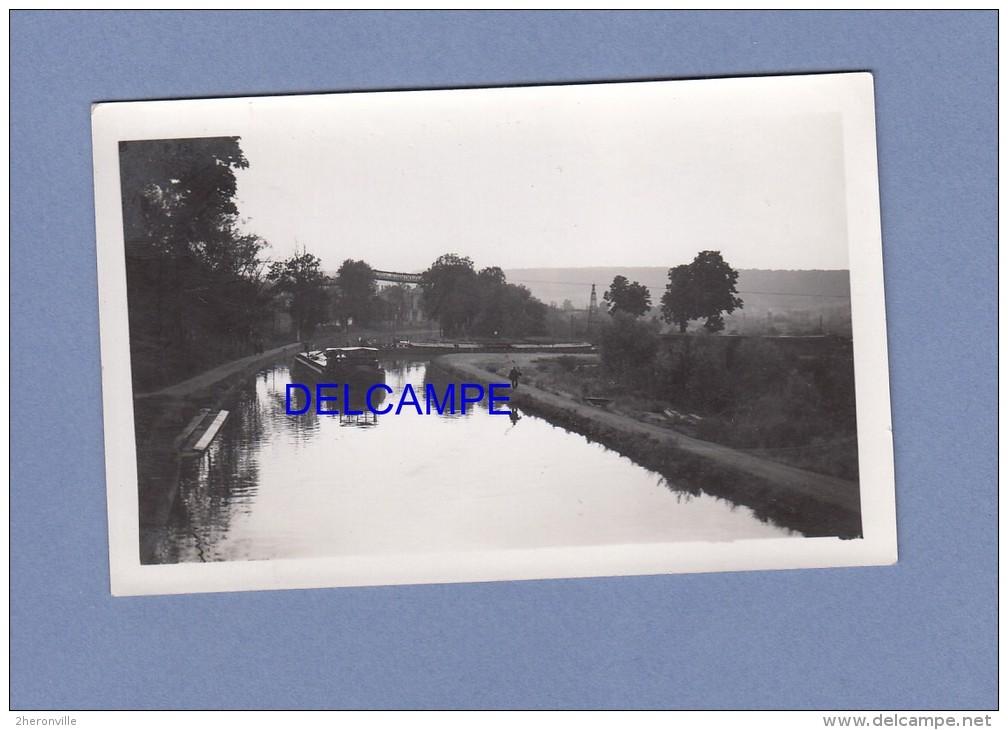 Photo Ancienne - FROUARD - Péniche Sur Le Canal - Le Port - Boats