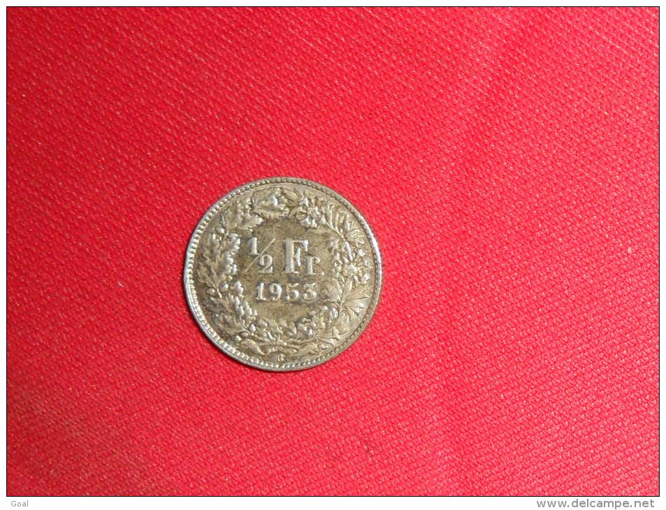 1/2 Franc / Suisse De1953B En  TTB./Argent - Suiza