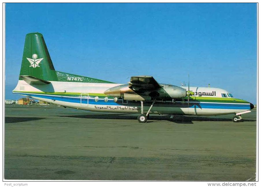 Thème -  Avion - Skyliner Cards N° 104 - Saudia -  Fairchild Ind F 27J - 1946-....: Moderne