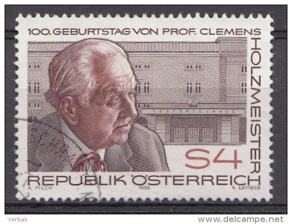 AUTRICHE Mi.nr: 1843 Geburtstag Clemens Holzmeister 1986 OBLITÉRÉS / USED / GESTEMPELD - 1981-90 Afgestempeld