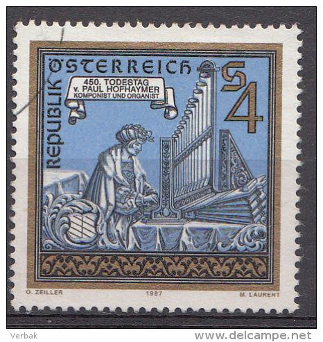 AUTRICHE Mi.nr: 1899 Todestag Von Paul Hofhaymer 1987 OBLITÉRÉS / USED / GESTEMPELD - 1981-90 Afgestempeld