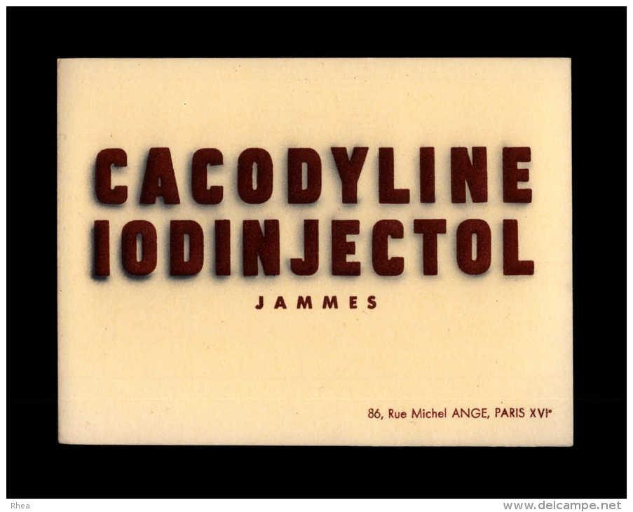 BUVARDS - Cacodyline Iodinjectol Jammes - Produits Pharmaceutiques