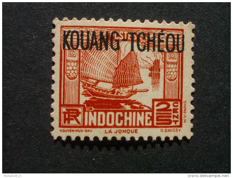 """KOUANG - TCHEOU  *  *  De  1937    """"   Timbres D' Indochine Surchargés 1931-1939   """"          3 Val - Unused Stamps"""