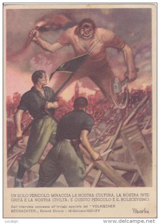 Illustr. BOCCASILE -Propaganda Antibolscevica - Illustrateurs & Photographes