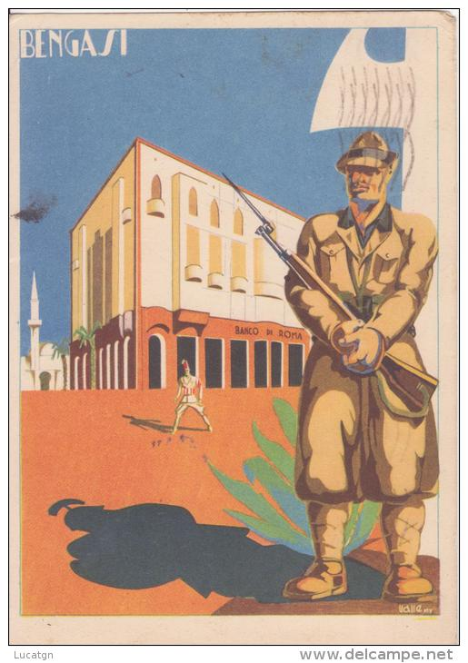Ill. Valle Bengasi Filiale Banco Di Roma - Künstlerkarten