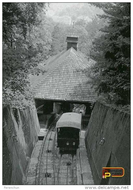 FUNICULAR RAILWAY * RAIL * RAILROAD * TRAIN * SIEMENS * Karlovy Vary Diana 1 * Czech Republic - Funiculares