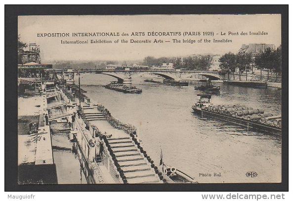 DF / 75 PARIS / EXPOSITION INT. DES ARTS DECORATIFS DE 1925 / LE PONT DES INVALIDES - Exhibitions