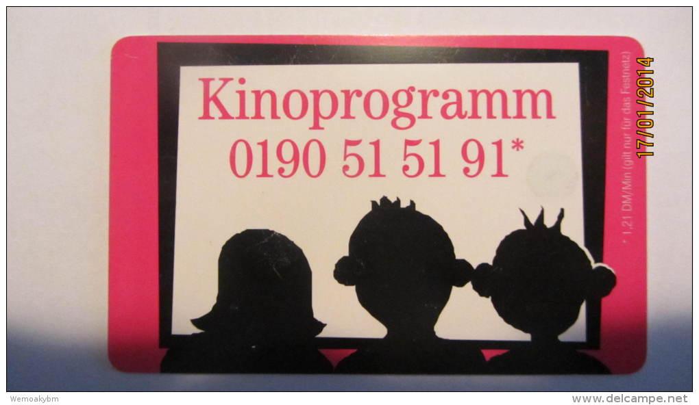 """Telefonkarte Der Deutschen Telekom """"Kinoprogramm 0190 51 51 91* """" 12 DM, 10.2001, Auflage: 500.000 - Deutschland"""