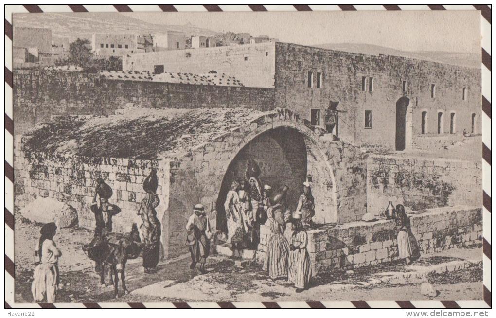 4AF67 NAZARETH LA FONTAINE DE LA VIERGE 2 SCANS - Israel