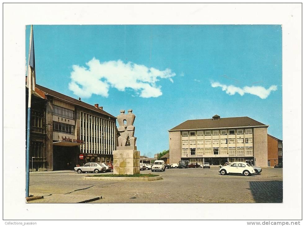 Cp, Belgique, La Louvière, Le Théatre, Le Monument De La Paix, L´Hôtel De Ville, écrite 1973 - La Louvière