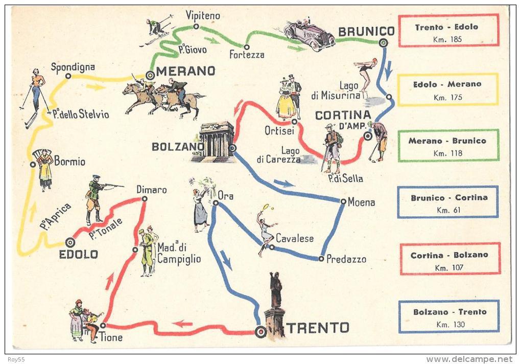 Cartina Geografica Trento.Other Cities Trentino Alto Adige Bolzano Trento Veduta Carta Geografica Essolube 1939