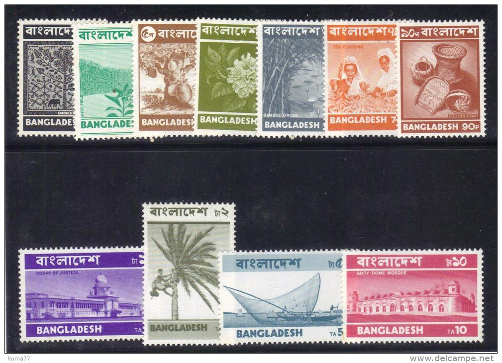 SS6427 - BANGLADESH , 11 Valori Diversi Integri *** MNH - Bangladesh