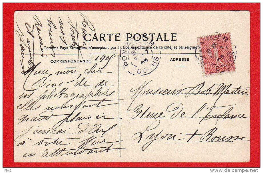 CPA: Champ De Tir De Pontarlier (25) - La Charge Du Canon De 138 (Editeur Foray) - Pontarlier
