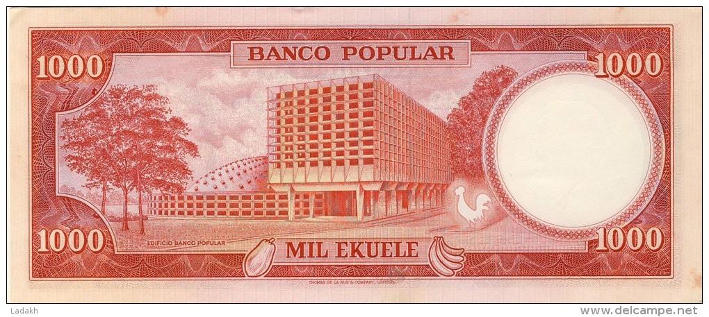 BILLET # GUINEE EQUATORIALE # 1000 EKUELE  # 1975 # PICK 8 A   #  NEUF # - Guinée Equatoriale