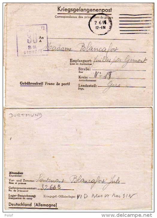Camp Des Prisonniers De Guerre Kriegsgef-Offizierlaguer IV D -38 - Correspondance  (63207) - Marcophilie (Lettres)