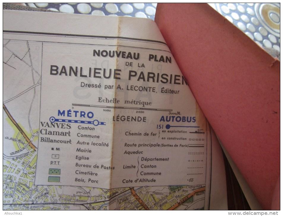 Paris Et Région Parisienne Réseau Autobus Plan Recto-verso 13 Couleurs Et Et Plan Métropolitain 8 Couleurs A. Le Conte - Europe