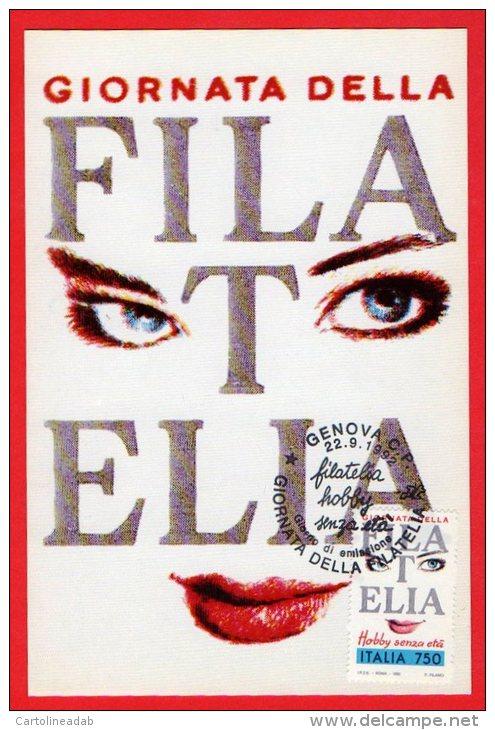 [MD0004] GENOVA 1992 - GIORNATA DELLA FILATELIA - CARTOLINA - CON ANNULLO 22.09.1992 - NV - Manifestazioni
