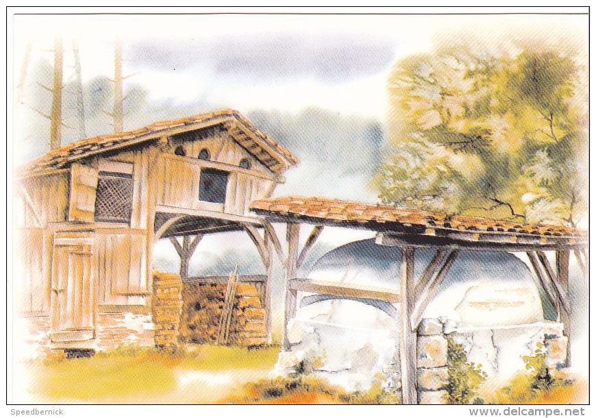 22231 Landes , Aquarelles Anne Larose -ferme Landaise -Thouand Jacques Vignes 423015 - Non Classés