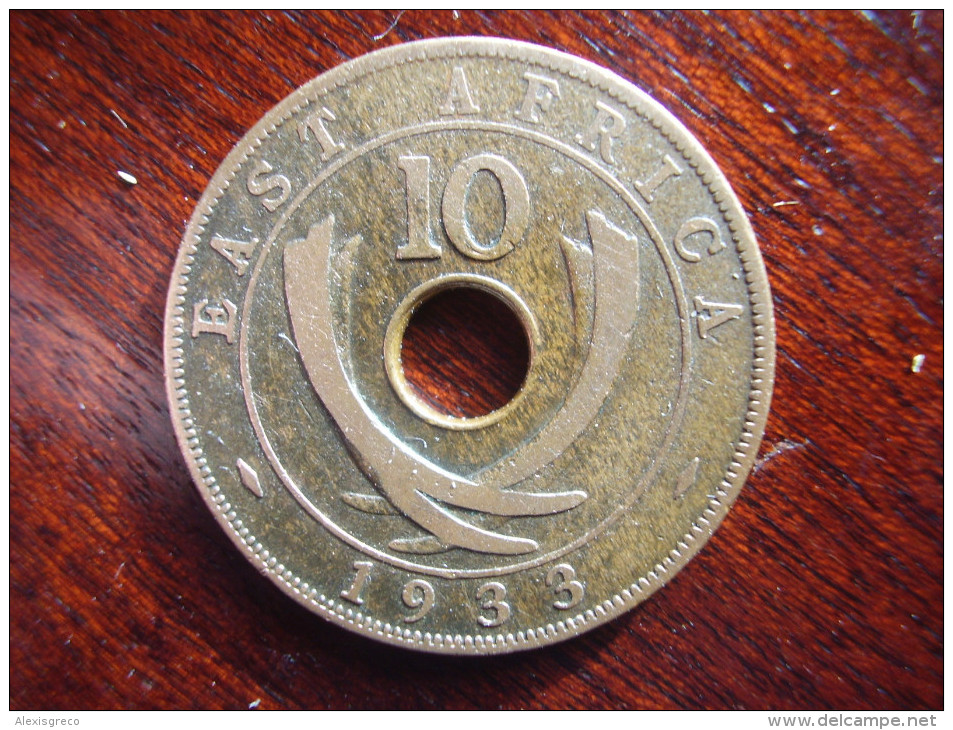 BRITISH EAST AFRICA USED TEN CENT COIN BRONZE Of 1933 - GEORGE V. - British Colony