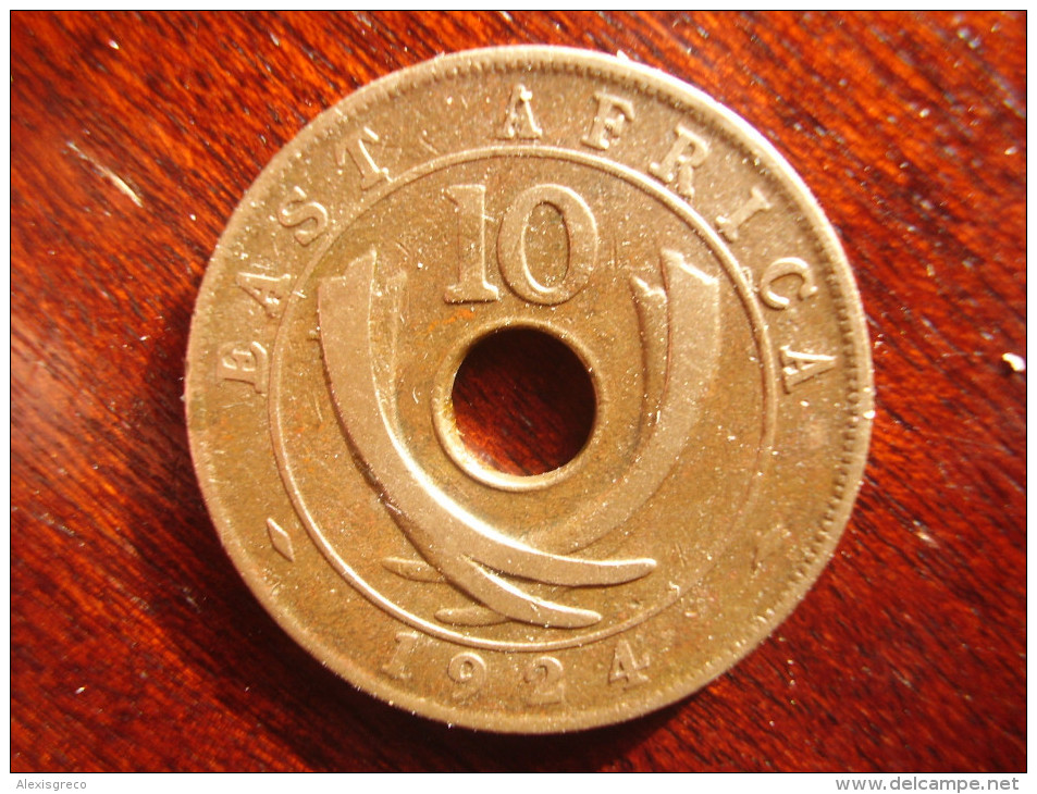 BRITISH EAST AFRICA USED TEN CENT COIN BRONZE Of 1924 - GEORGE V. - British Colony