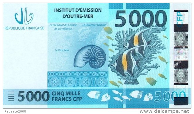 Nouvelle Calédonie - 5000 FCFP - 2014 / Signatures Noyer-de Seze-La Cognata - Neuf  / Jamais Circulé - Nouméa (New Caledonia 1873-1985)