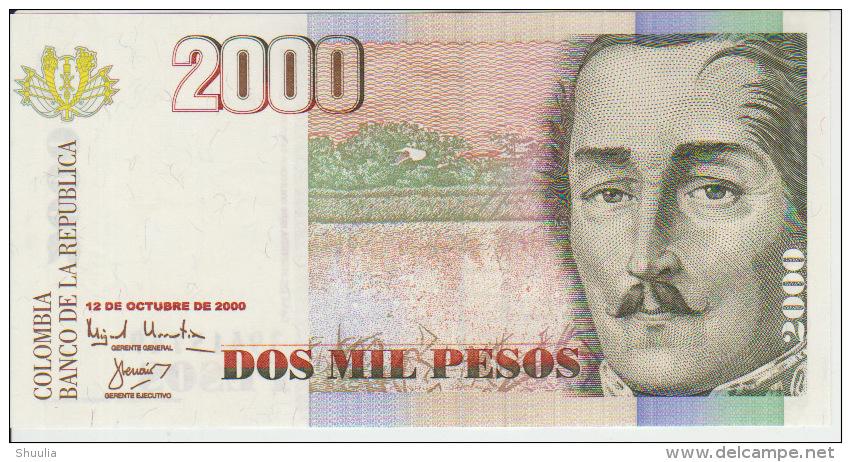 Colombia 2000 Peso 2000 Pick 451 UNC - Colombia