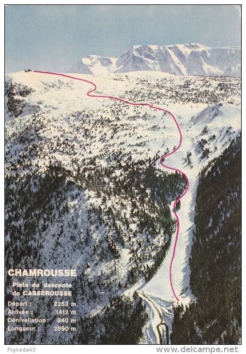 Cp , SPORTS , Sports D'hiver , Chamrousse , Piste De Descente De Casserousse - Sports D'hiver