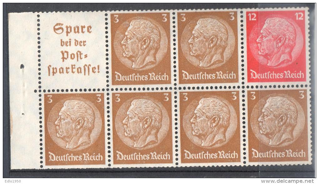 Deutsches Reich Zusammendruck Mi  H - Blatt 94 **  - Siehe Scan - Alemania