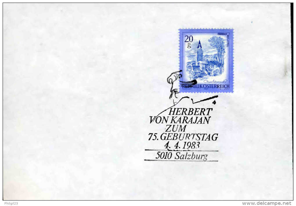 AUTRICHE - AUSTRIA - 1983 - HERBERT VON KARAJAN - Musica