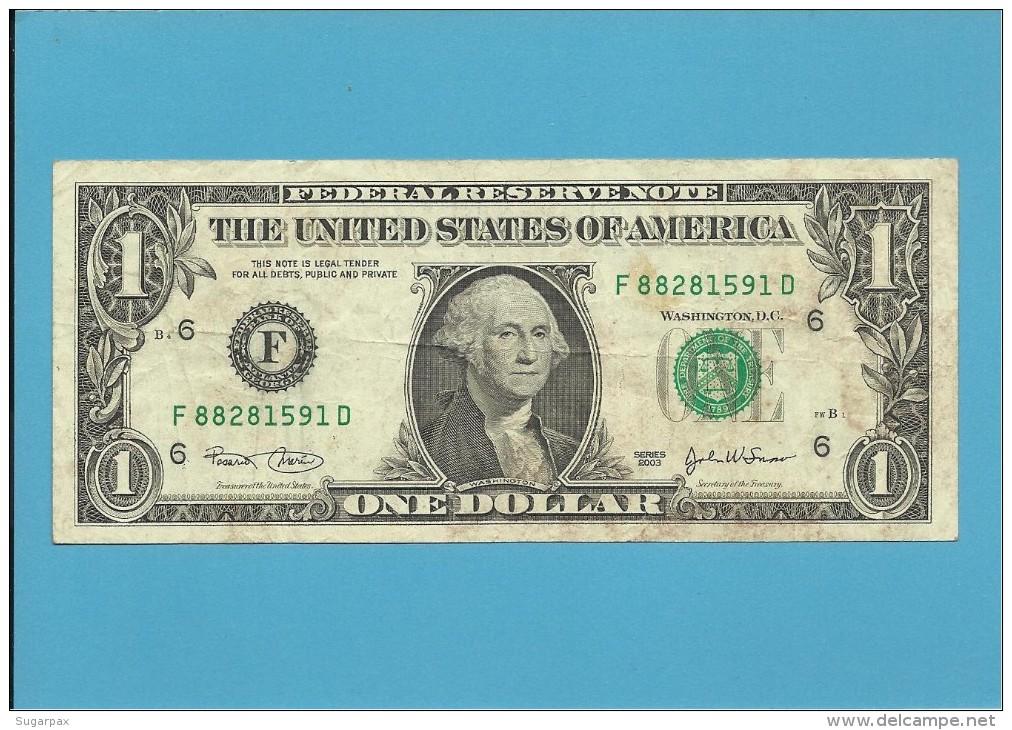 U. S. A. - 1 DOLLAR - 2003 - Pick 515a - ATLANTA - GEORGIA - Billets De La Federal Reserve (1928-...)