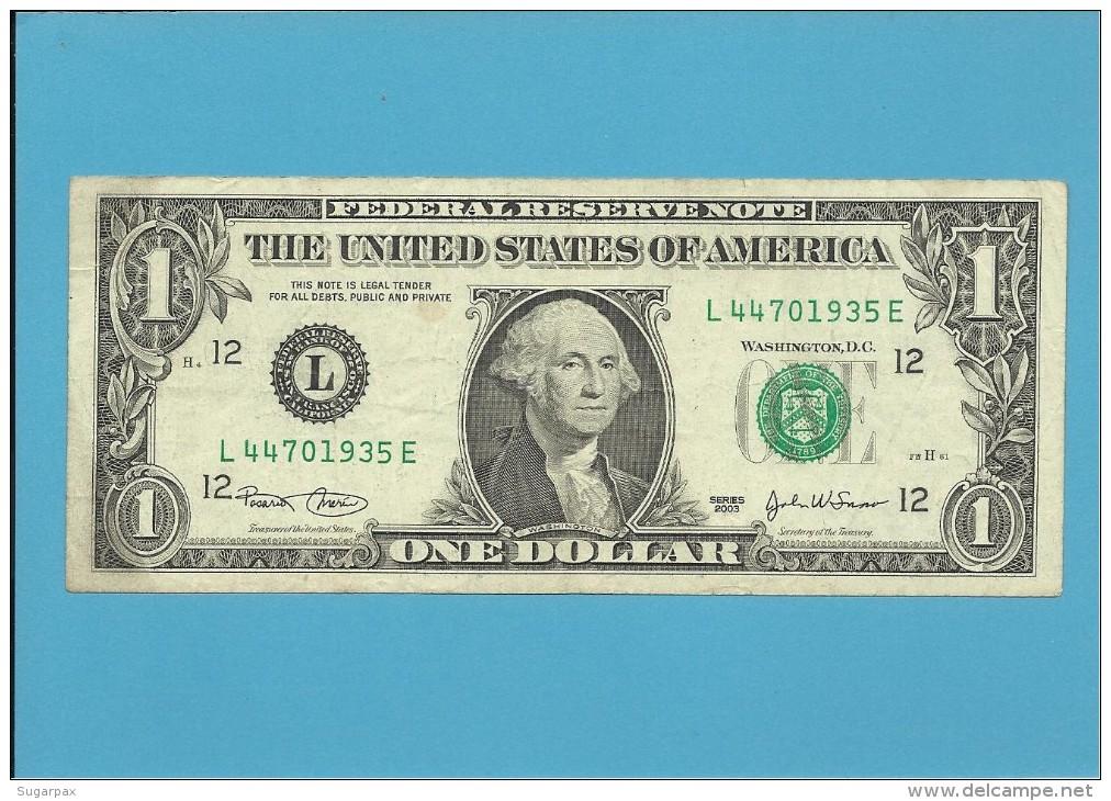 U. S. A. - 1 DOLLAR - 2003 - Pick 515a - SAN FRANCISCO - CALIFORNIA - Billetes De La Reserva Federal (1928-...)