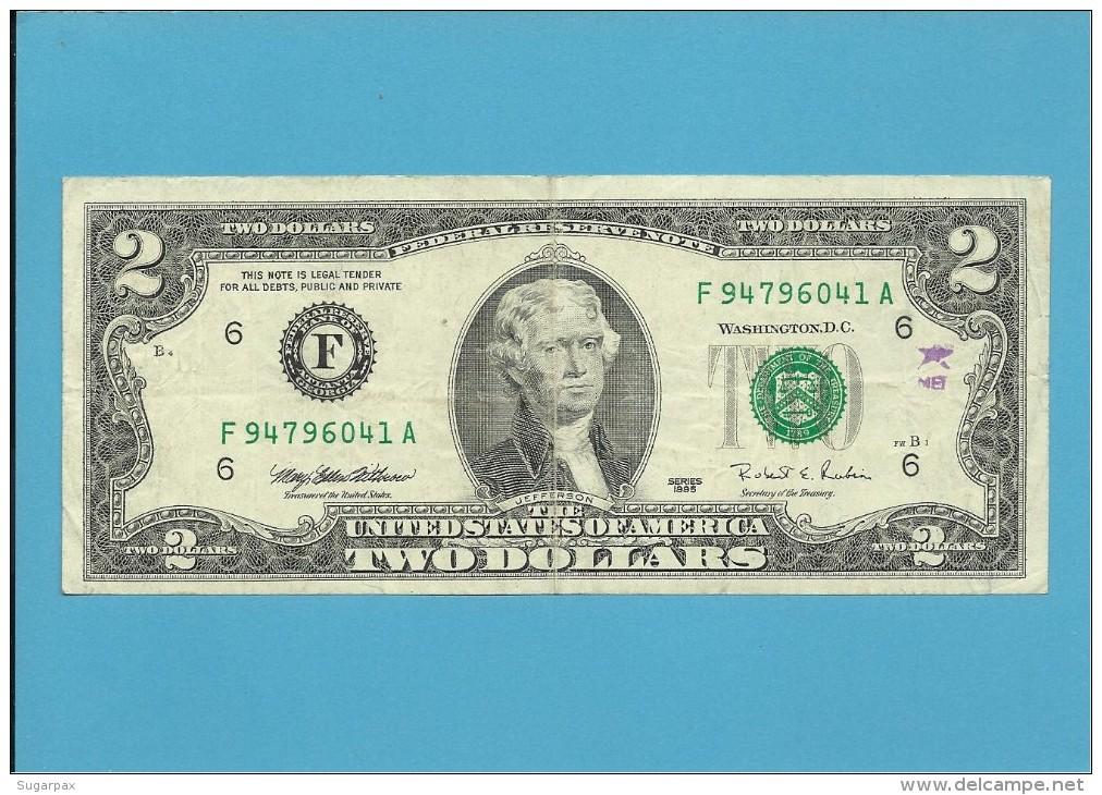 U. S. A. - 2 DOLLARS - 1995 - Pick 497 - ATLANTA - GEORGIA - Billets De La Federal Reserve (1928-...)