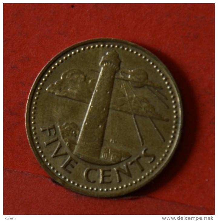 BARBADOS  5  CENTS  1973   KM# 11  -    (Nº04790) - Barbades