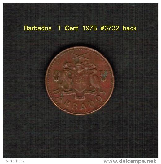 BARBADOS   1  CENT  1978  (KM # 10) - Barbades