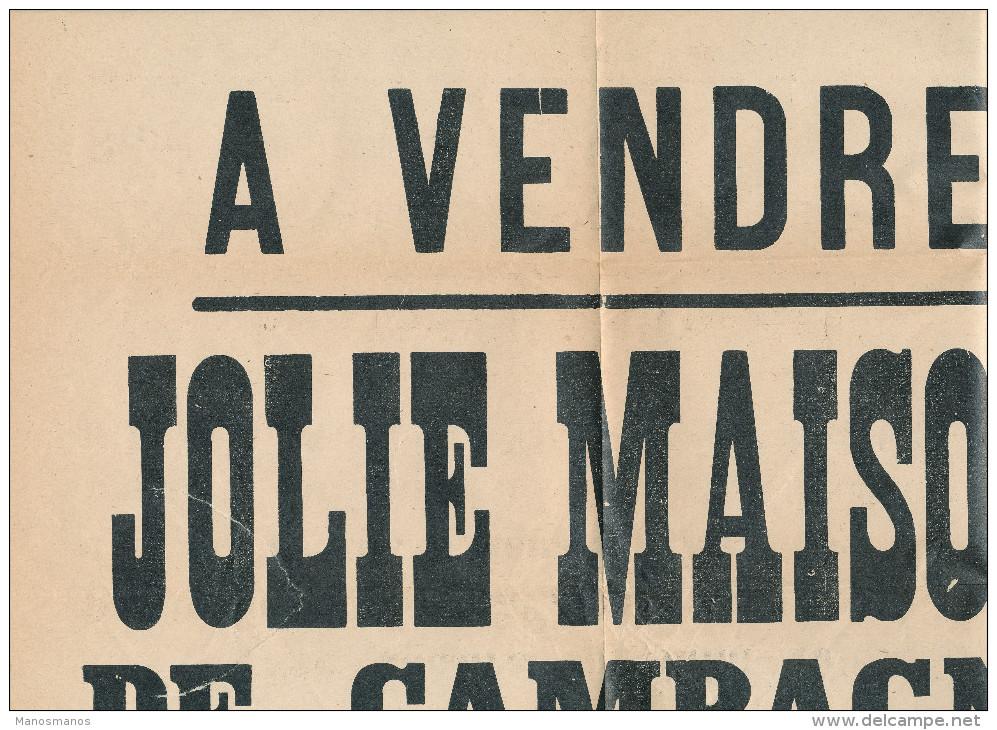 071/22 - IMPRIME TP Houyoux FLORENNES 1926 - AFFICHE Complète De Vente D'une Maison à ST AUBIN MORIALME - 1922-1927 Houyoux