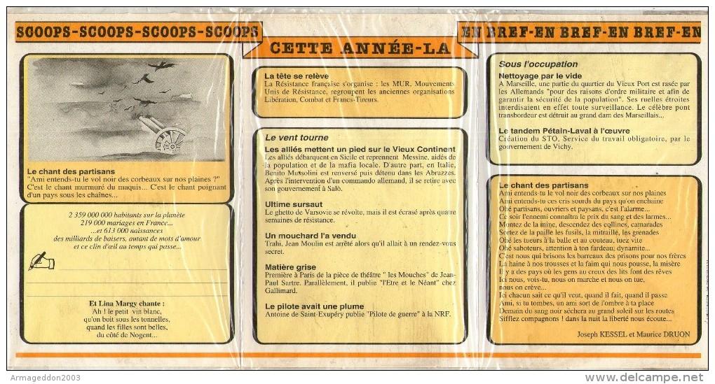 D01 / NEUVE EMBALLE CALENDRIER LE CHANT DES PARTISANS  LIVRE D´OR DE VOTRE NAISSANCE 1943 / 3 SCANS - Calendriers