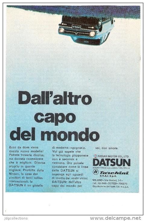 # DATSUN 1960s Car Italy Advert Pub Pubblicità Reklame Auto Voiture Coche Carro Nissan Motor - Cars
